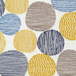 cloud9 - stepping stones, citron - bio-barkcloth