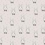 bloome - bunny bow, grau - bio-jersey