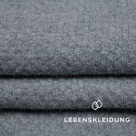 lebenskleidung - 3d interlock, grau meliert - bio-interlock