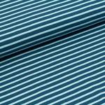 stoffonkel - streifen dunkelblau/hellblau - bio-jersey