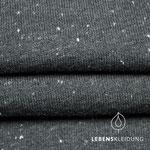 lebenskleidung - neps anthrazit/weiß - bio-wintersweat