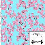 tyglycka - cherry blossom - bio-jersey