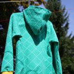 Raglan-Sweatshirt - hinten - Schnitt Minikrea