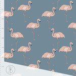flamingo, blue - bio-jersey
