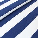 stoffonkel - blockstreifen blau/weiß - bio-jersey