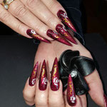 Bild - Feel Good Nails - Acryl Stilettos mit Airbrush