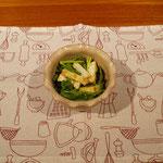 厚揚げと春菊のサラダ