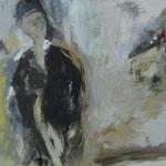 """""""Der Reisende"""" 30cm x 40cm, Acryl auf Leinwand, 2014"""