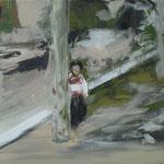 """Mädchen aus Ecuador"" 30cm x 40cm, Acryl auf Leinwand, 2014"