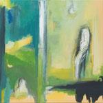 Figur im Raum-mein Gegenüber II, 2019, Acryl auf Leinwand, 70x70cm