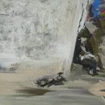 """""""Die Hockende"""" 30cm x 40cm, Acryl auf Leinwand, 2013"""