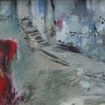 """""""Die Fremde"""" 30cm x 40cm, Acryl auf Leinwand, 2014"""