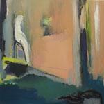 Figur im Raum-mein Gegenüber V, 2019, Acryl auf Leinwand, 70x70cm