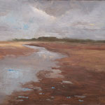 Strand in Norfolk. Öl auf MDF 28x23cm (Norfolk Painting School). €210,00