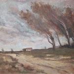 "Nach Jean Baptiste Camille Corot ""The Gust of Wind"" - Öl auf MDF Platte"
