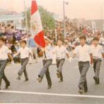 Desfile escolar 1982