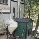 薪の乾燥室の床暖房にも流用