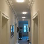 Neubeschichtung von Wand-und Deckenflächen und Stuckelementen
