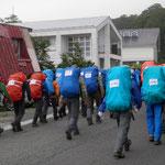 7/31 インターハイ、山岳部月山登山開始