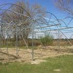 Konstruktion Foliengewächshaus