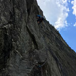 Photo:  Thomas / Climber: Stefan Joller / Location: Pala di Gondo, Simplon, Switzerland