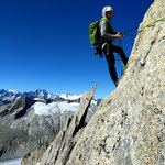Photo:  Jonas / Climber: Stefan Joller / Location: Gross Furkahorn ESE-Grat, Furka, Switzerland