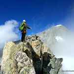 Photo:  Jonas / Climber: Stefan Joller / Location: Gross Bielenhorn SE-Grat, Furka, Switzerland
