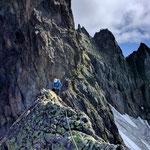 Photo: Jonas / Climber: Stefan Joller / Location: Fünffingerstöck, Urner Alpen