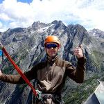 Climber: Stefan Joller / Photo: Client / Location: Fiamma, Albigna, Bergell