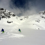 Photo: Stefan Joller / Skiers: Jan and Ulf / Location: Lauchernalp, Valais
