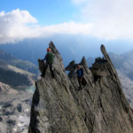 Climbers: Dominik & Stefan Joller / Photo: Colin / Location: Gross Diamantstock Ostgrat, Bächlital