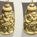 Orecchini in oro 9 kt con pietra lavica