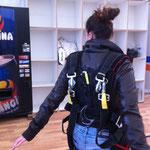 préparation à un saut en parachute à La Réole