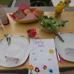 Delikatessen Dinné mit selbstgebastelter Speisekarte