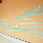 壁画 波模様
