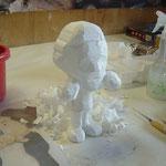発泡スチロール彫刻による ミニュチュア製作