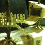木製 フェレットの遊び場ハウス