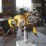 ミツバチ模型 修繕