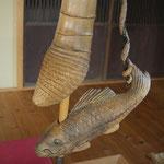 木彫 自在鍵 鯉