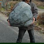 発泡スチロール造形 石