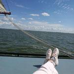 Entspannung pur beim Segeln auf dem holländischen Ijsselmeer