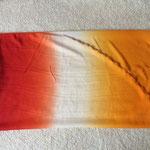 Halbrundschleier Orange/Rot/Hellgelb, ca 245 x 110 cm, 17 €