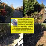 Extérieurs - espaces verts - jardin - élagage - tonte - débroussaillage - dessouchage  - tronçonneuse - broyeur - rotofil