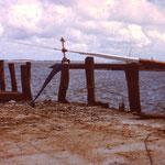 Hans von Wilster, Mastspitze im Ilef auf Hallig Langeness 1990