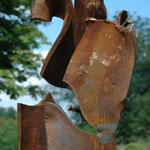 Sprung 5 Arbeit Nr. 12/2013 L 60 cm, H 190 cm, B 30 cm Stahlträger auf Plinthe