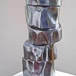 """Kondirat"" Arbeit Nr. 07-2014, L 25 cm xH 55 cm x B 25 cm, Stahl"