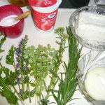 zutaten: petersilie, ysop, pipernelle, schafgarbe und estragon