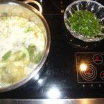 10 minuten kochen lassen
