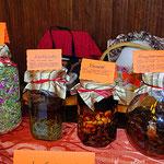 geh-wohl-tee, steinkleetinktur, venenbad, krampfaderneinreibgung mit roten weinblättern, alkohol und kampfergeist