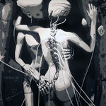 C'est bot l'amour - (Toile format 116 x 89) - Acrylique  - Malagarty